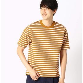 (コムサ イズム) COMME CA ISM ボーダー Tシャツ 47-64TL22-109 L イエロー