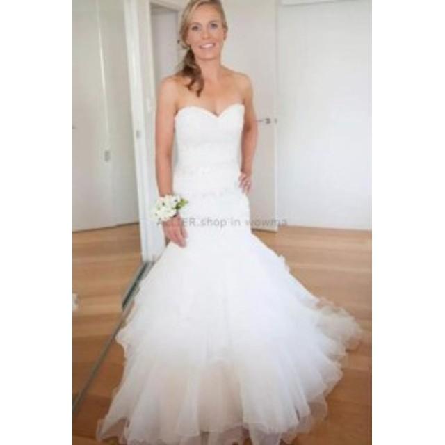 ウェディングドレス/ステージ衣装 ホワイト/アイボリービーズのチュールマーメイドのウェディングドレスブライダルドレスカスタムメイド