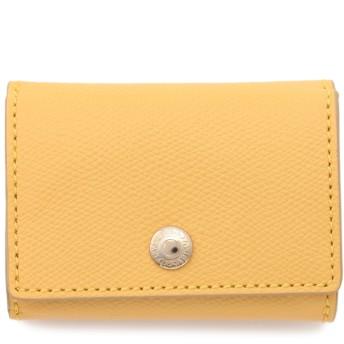 TOPKAPI 角シボ型押し・三つ折りミニ財布 財布,レモンイエロー