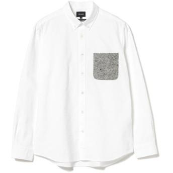 ビームス メン BEAMS / ジャズネップ ポケット ミニ ボタンダウン シャツ メンズ WHITE L 【BEAMS MEN】