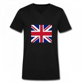トップス ユニオンジャック Men V Neck T-Shirts メンズ Tシャツ