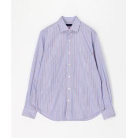 トゥモローランド ブリティッシュポプリン セミワイドカラーシャツ メンズ 62ライトブルー系 S 【TOMORROWLAND】
