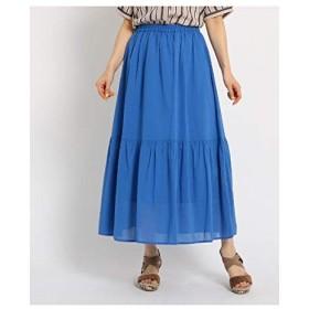 (ザ ショップ ティーケー) THE SHOP TK ティアードスカート 04076008 12(M) ライトブルー(091)