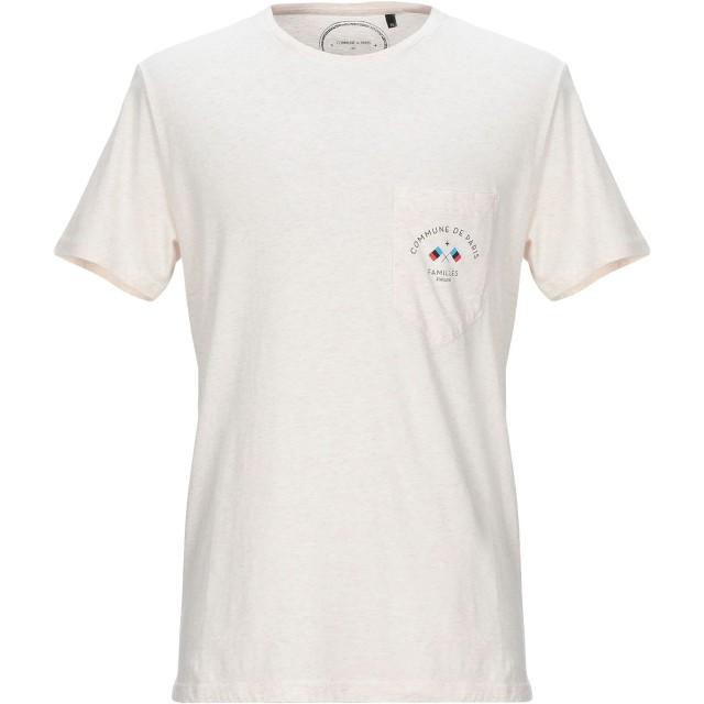 《セール開催中》COMMUNE DE PARIS 1871 メンズ T シャツ ベージュ XS コットン 100%