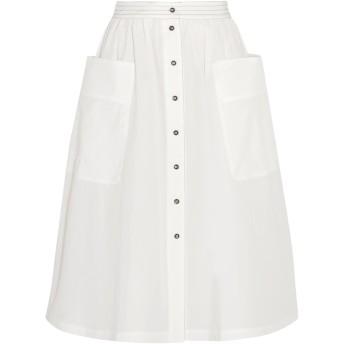 《セール開催中》TOMAS MAIER レディース 7分丈スカート ホワイト 8 コットン 100%