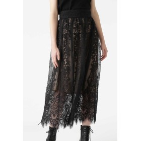 JILLSTUART ◆ローラレースロングスカート ブラック 0