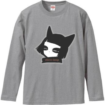 【和姫ちゃんロングTシャツ/ミックスグレー】