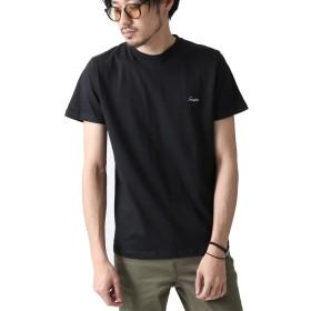 [ジップファイブ] ZIP FIVE ワンポイント刺繍クルーネックTシャツ t-8589031 94BLACK-E XL