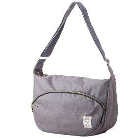 IVORY ショルダーバッグ レディース メンズ バッグ カバン 鞄 斜め掛け カジュアル ユニセックス スウェット メッセンジャーバッグ (グレー)