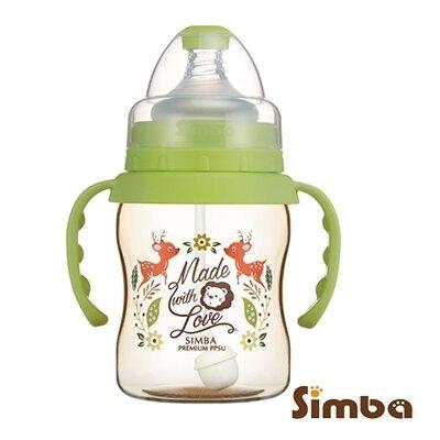 小獅王 辛巴 Simba 桃樂絲PPSU自動把手寬口葫蘆小奶瓶(果綠色) S61870【紫貝殼】