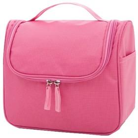【AMgrocery】化粧ポーチ 小物入れ トラベルポーチ (ピンク)機能的 シンプル 使いやすい