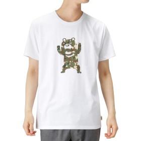 ZOOMAC(ズーマック) プリントTシャツ 半袖Tシャツ クルーネック EJ193-MC153 メンズ ホワイト:M