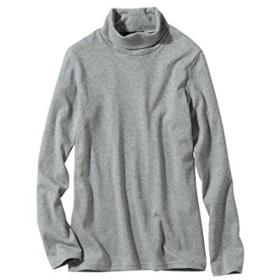 [nissen(ニッセン)] 綿100% タートルネック Tシャツ 大きいサイズ レディース 杢グレー L