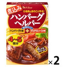 【アウトレット】ハウス食品 煮込みハンバーグヘルパー ハンバーグの素+デミグラスソースの素 1セット(94g×2個)
