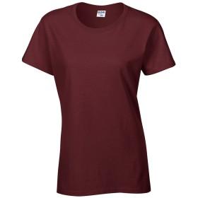 【メーカー取次】GILDAN 76000L 5.3oz レディース クルーネック 半袖Tシャツ Japan Fit(XL 083 MAROON)【ネコポス便】 メンズ レディース 半袖 無地