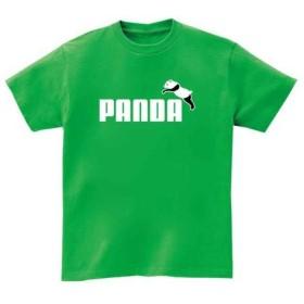 【国内発送】15色 PAROTTA パロッタ PANDA パンダ パロディ 半袖Tシャツ ブライトグリーン Lサイズ