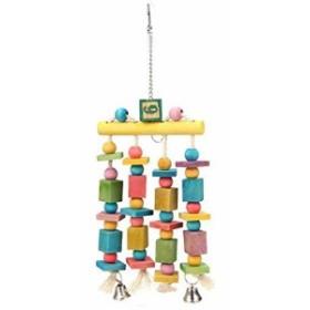 TeamTop カラフル 鳥 ペット 小動物 おもちゃ インコ おもちゃ 吊り下げ 吊り橋 ペット用品 噛む玩具 吊下げタイプ玩具 カラフル ス