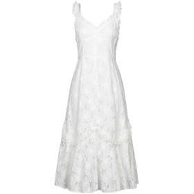 《期間限定 セール開催中》REBECCA TAYLOR レディース 7分丈ワンピース・ドレス ホワイト 8 コットン 100%