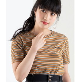 [マルイ]【セール】マルチボーダーロゴTシャツ/ウィゴー(レディース)(WEGO)