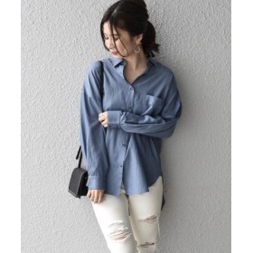 (SHIPS/シップス)Khaju:オーバーサイズシャツ/レディース ロイヤルブルー