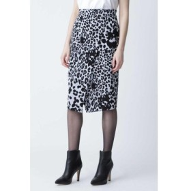 (PINKY & DIANNE/ピンキーアンドダイアン)◆レオパードプリントラップ風スカート/レディース グレー1