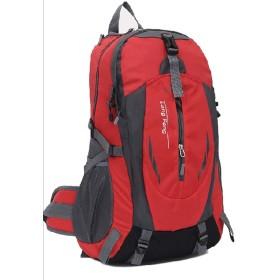 [クルーズライン] 男女兼用 大容量 リュック 35L 登山 旅行 アウトドア レジャー バックパック ザック バッグ B40 (レッド)