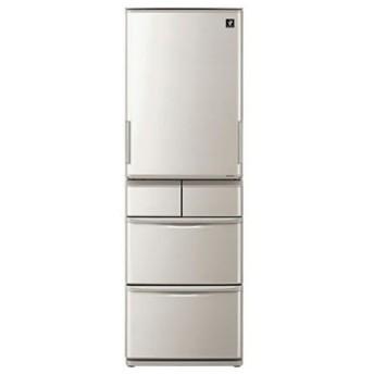 シャープ 冷蔵庫 SJ-W412D-S 5ドア 412L どっちもドア シルバー