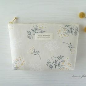2ポケット付ポーチ *通帳・母子手帳・化粧ポーチに / BE・Lace flower