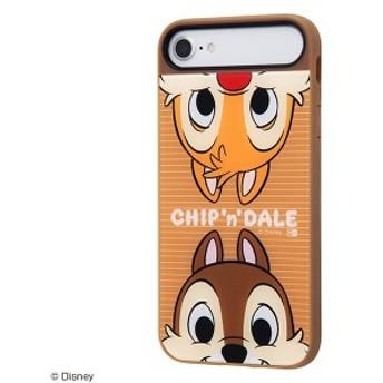 ディズニー iPhone8/7/6s 耐衝撃ケース peer in 耐衝撃ケースキャトルP チップ&デール かわいい おしゃれ グッズ IQ-DP76PCBR-CD002