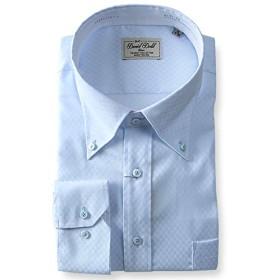 DANIEL DODD 形態安定 長袖ワイシャツ ボタンダウン ストレッチ d484az103 大きいサイズ メンズ【2.ブルー系-6L】