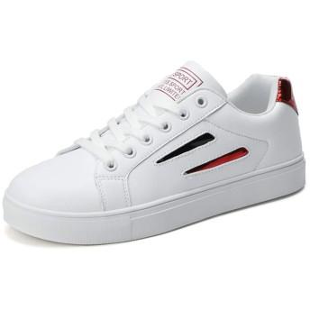 [SITAILE] スニーカー メンズ レディース 白 カジュアルランニング シューズ 学生 カップル スニーカー レースアップ 韓流 通気 通学靴 日常着用 123 ブラック 39