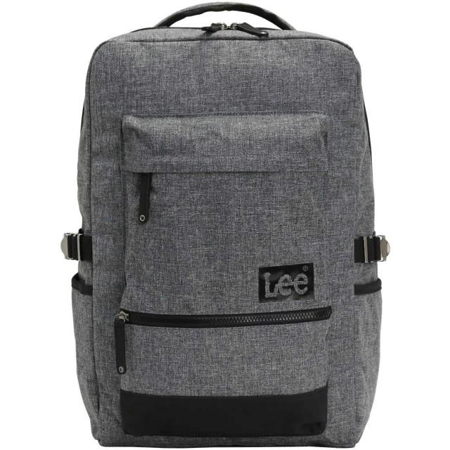 [リー] Lee リュック リュックサック スクエア メンズ レディース 26L melange メランジェ 320-4400 (グレー)