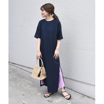 【58%OFF】 シップス otonaMUSE×SHIPS プリーツスカート付きTEEシャツドレス レディース ネイビー ONESIZE 【SHIPS】 【セール開催中】