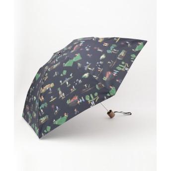 【オンワード】 Paul Smith(ポール・スミス) プリント 折り畳み傘 ネイビー F レディース 【送料無料】