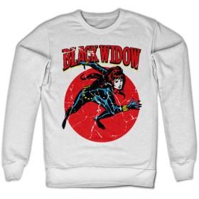 Officially Licensed Merchandise Marvels Black Widow Sweatshirt (White), Medium