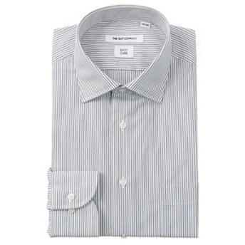 【THE SUIT COMPANY:トップス】ワイドカラードレスシャツ ストライプ 〔EC・FIT〕