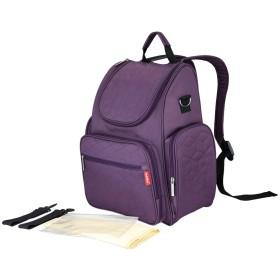 (ビグッド) Bigood ベビー用品収納 ママバッグ レディース 大容量 バックパック マザーズバッグ リュック 多機能旅行用バッグ 出産祝い アウトドア(パープルC)