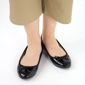 足もと華奢みせ 上品バレエシューズ L フェリシモ FELISSIMO【送料:450円+税】