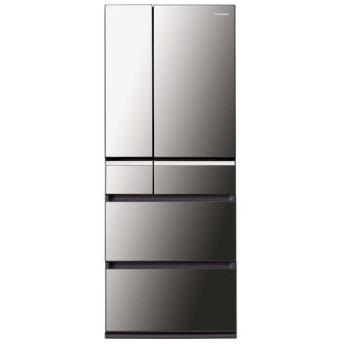 パナソニック 冷蔵庫 NR-F471XPV-X 6ドア 470L オニキスミラー フレンチドア