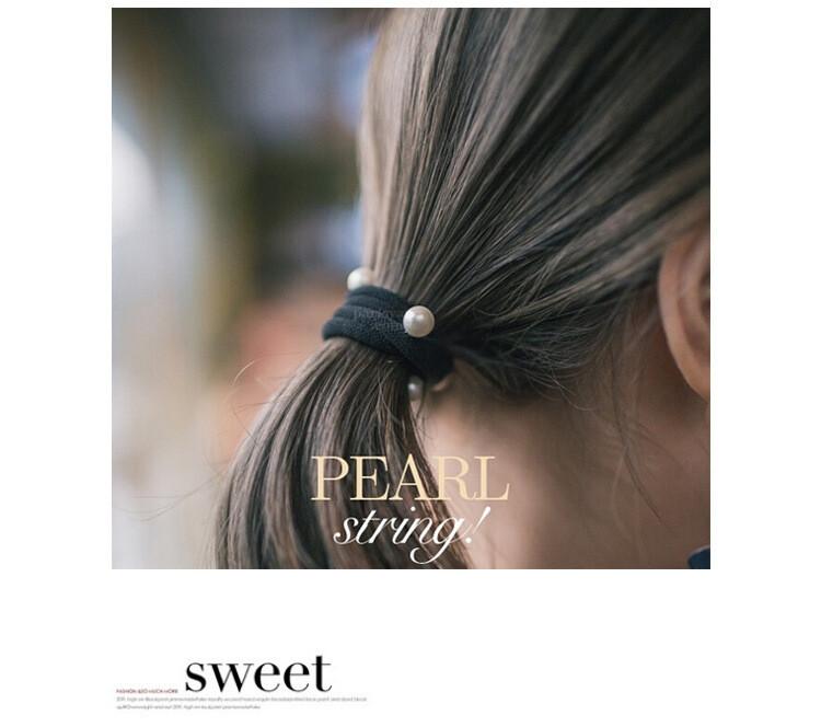 優雅珍珠彈力髮圈