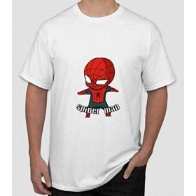 [ドラゴン]メンズ Marvel Spider-Man スパイダーマンプリント 半袖Tシャツ
