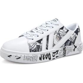[Cici-shop] スニーカー 靴 シューズ メンズ カジュアル スエード ローカット 軽量 通気 通学 通勤 日常着用 メンズ(ホワイト 25.5cm (41))