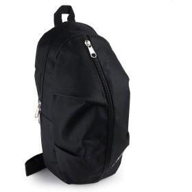 [mobac] ボディバッグ バッグ ワンショルダー メンズ 軽量 軽い ファッション カジュアル シンプル 迷彩 (ブラック)