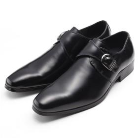 SARABANDE サラバンド モンクストラップ ビジネスシューズ 紳士靴 27.0cm 44サイズ 本革 ブラック 7763-BLK-44