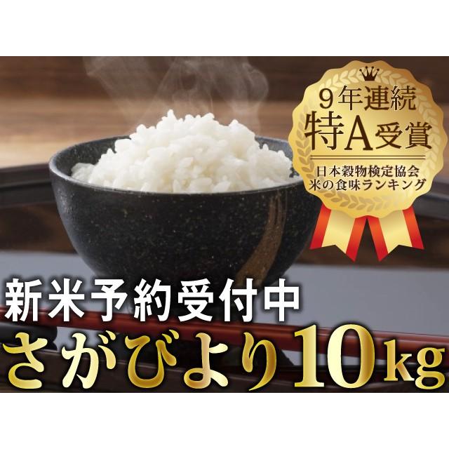 一等米!!令和元年産 新米さがびより10kg (5Lx2袋)【先行予約】(5L×2)