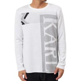 [カールカナイ] Karl Kani セーター ロゴ ニット 183K1408 ホワイト L