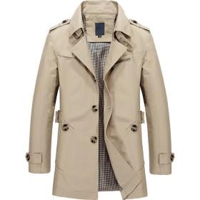 メンズ コート ジャケット 長袖 カジュアル ビジネス アウター シンプル 防風 メンズコート ビジネスコート 無地 個性 大きいサイズ Seranier