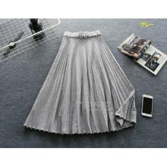 スカート ロングスカート ミモレ丈 スカート フレアスカート プリーツスカート ロング 大きいサイズ レディース プリーツ ウェ