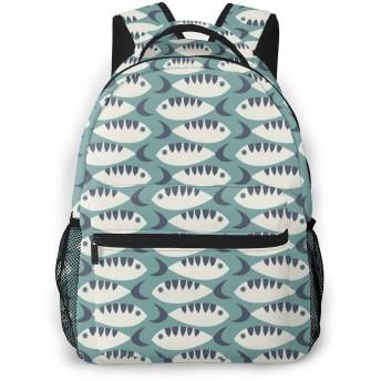 リュック 魚柄 バックパック リュックサック 大容量 軽量 耐久性 アウトドア 学生 通学 外出 男女兼用