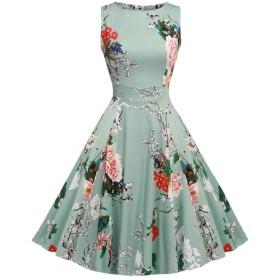 Botomi 女性のロカビリー1950年代のヴィンテージのカラフルな結婚式ドレス パーティードレス [並行輸入品]
